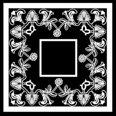 Art Nouveau Classic Black & White Quickpages  12 X 12  By Catvinnat   Scrapbook Page 12  X 12    5bbex2xofk8i   Www Artscow Com 12 x12 Scrapbook Page - 12