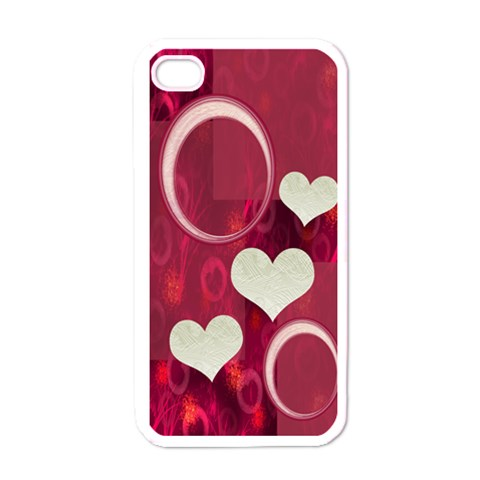 I Heart  You Pink I Phone Case By Ellan   Apple Iphone 4 Case (white)   4l9qzz4dhdic   Www Artscow Com Front