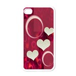 I heart  you pink I-phone case - Apple iPhone 4 Case (White)