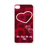 You Light Up my Life  pink I-phone case - Apple iPhone 4 Case (White)
