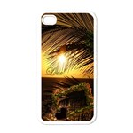 Love gold palm sunset I-phone case - Apple iPhone 4 Case (White)
