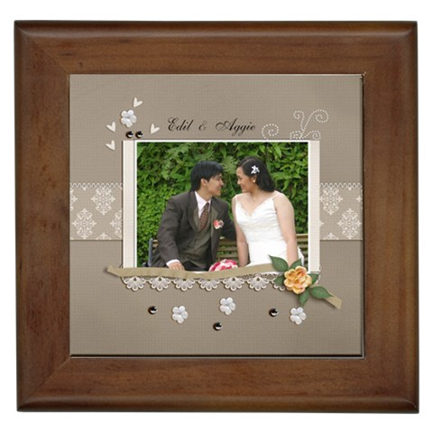 Framed Tile  Wedding By Jennyl   Framed Tile   1q6l12cn0490   Www Artscow Com Front