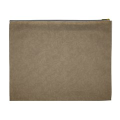 Brown & Cream Xl Cosmetic Bag Template By Laurrie   Cosmetic Bag (xl)   Hzrswftprmnx   Www Artscow Com Back