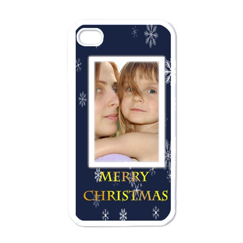 Mery Christmas By Wood Johnson   Apple Iphone 4 Case (white)   H6go4ym02i5t   Www Artscow Com Front