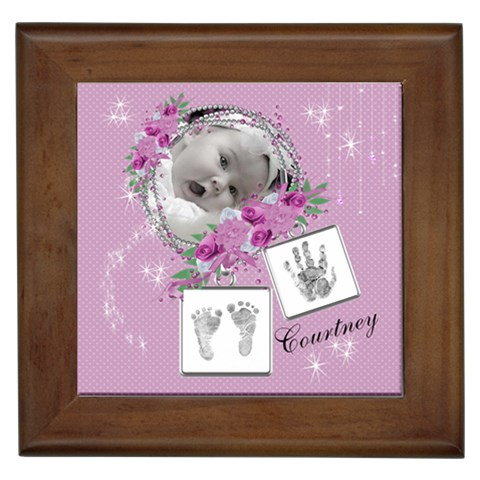 Framed Tile   Baby Girl By Laurrie   Framed Tile   N2f2oa4lmcwq   Www Artscow Com Front