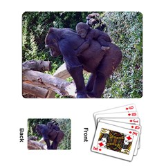 Gorilla and Baby Playing Cards Single Design by photogiftanimaldesigns