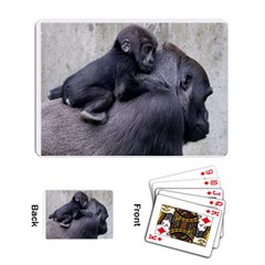 Gorilla and Baby 2 Playing Cards Single Design by photogiftanimaldesigns