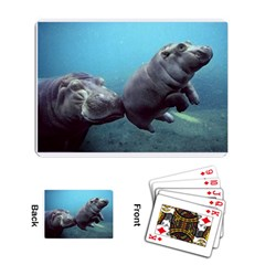 Hippo and Baby Playing Cards Single Design by photogiftanimaldesigns