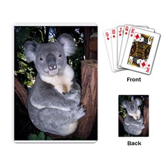 Koala Bear Playing Cards Single Design by photogiftanimaldesigns
