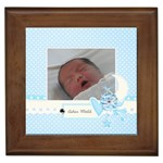 Framed Tile- Precious Baby Boy
