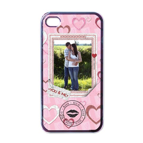You & Me Iphone Case By Lil    Apple Iphone 4 Case (black)   Fdb3xdz1avdn   Www Artscow Com Front