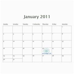 Calendar For 2011 By Mariya   Wall Calendar 11  X 8 5  (12 Months)   Rg4400mbo08a   Www Artscow Com Jan 2011