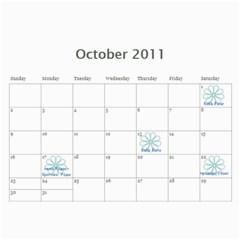 Calendar For 2011 By Mariya   Wall Calendar 11  X 8 5  (12 Months)   Rg4400mbo08a   Www Artscow Com Oct 2011