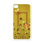 Tangerine Breeze Iphone Case 1 - Apple iPhone 4 Case (White)