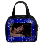 2 sided blue lights with snowflakes purse - Classic Handbag (Two Sides)