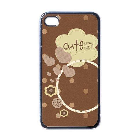 Cute Brownie Iphone Case By Purplekiss   Apple Iphone 4 Case (black)   I6heqkvmgf3j   Www Artscow Com Front
