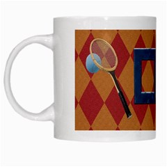 Games We Play Tennis Mug 1 By Lisa Minor   White Mug   Qrw5nyd5zeij   Www Artscow Com Left