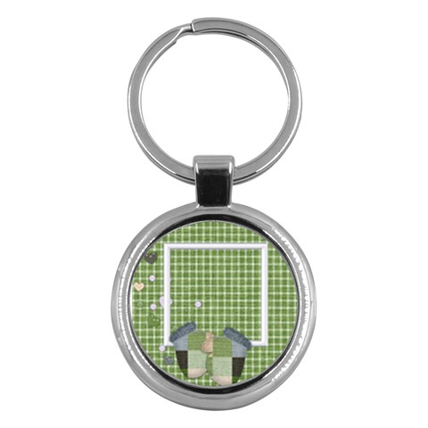 Blustery Day Key Chain 1 By Lisa Minor   Key Chain (round)   2mxvyvohtuhq   Www Artscow Com Front