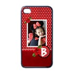 Apple iPhone 4 Case- Red Polka Dots - Apple iPhone 4 Case (Black)