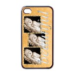 beautiful triple frame i phone case - Apple iPhone 4 Case (Black)