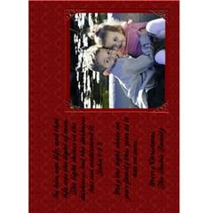 Christmas Card Red Damask 5x7 By Heatherr   Greeting Card 5  X 7    Knu8c16777c9   Www Artscow Com Back Inside