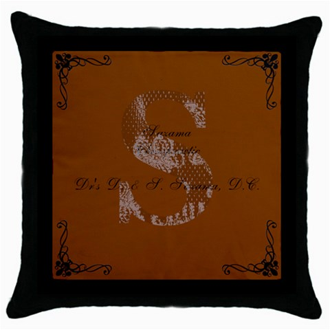 Dani And Seth Christmas! By Chelsie   Throw Pillow Case (black)   05cegjjngclq   Www Artscow Com Front