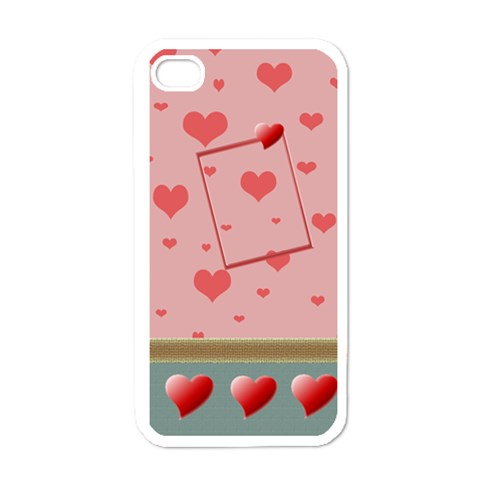 Heart U   Iphone Case By Daniela   Apple Iphone 4 Case (white)   U2ug7nwmzkz1   Www Artscow Com Front
