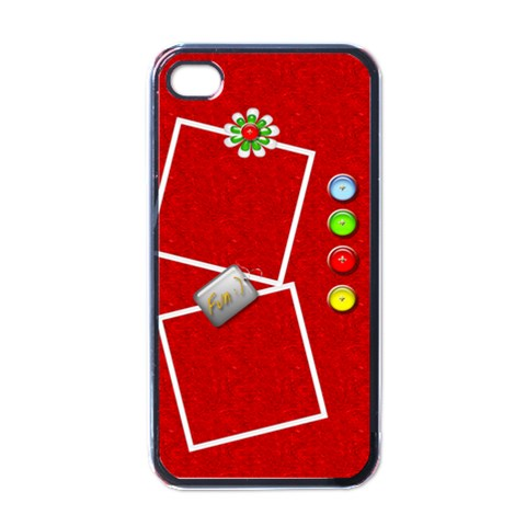 Red Fun Iphone4 Case By Purplekiss   Apple Iphone 4 Case (black)   8i6zkqok0nx3   Www Artscow Com Front