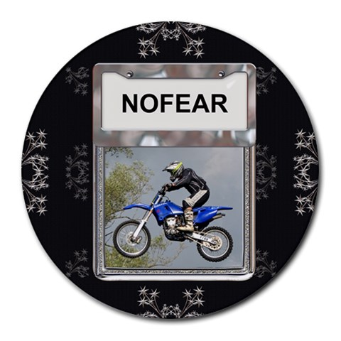 No Fear Round Mousepad By Lil    Round Mousepad   6lltn1z3u949   Www Artscow Com Front