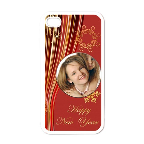Happy New Year By Wood Johnson   Apple Iphone 4 Case (white)   Mlvc0cui84y5   Www Artscow Com Front