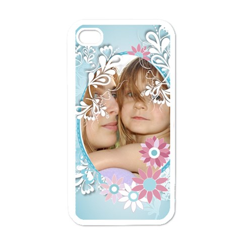 Flower Kids By Wood Johnson   Apple Iphone 4 Case (white)   13upiis8w3ii   Www Artscow Com Front