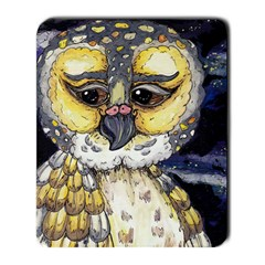 Wise Old Owl Large Mousepad by kewzooA
