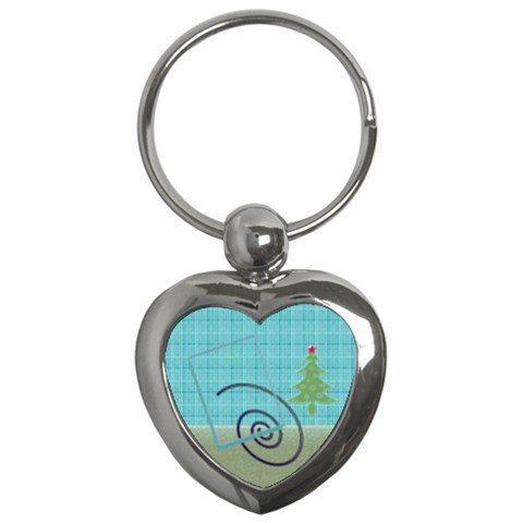 Christmas Tree By Daniela   Key Chain (heart)   Fyc0rkg448t9   Www Artscow Com Front