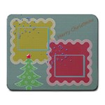 Merry Christmas mousepad - Large Mousepad