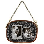 Black & Silver Chain Purse - Chain Purse (One Side)