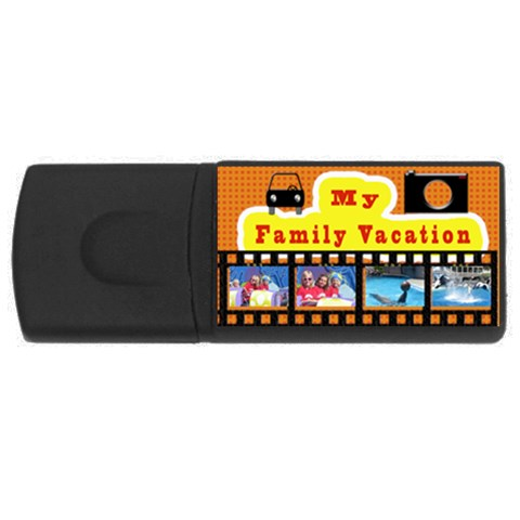 Vacation Usb For Travel Photos  By Danielle Christiansen   Usb Flash Drive Rectangular (4 Gb)   7a99kogyr4pc   Www Artscow Com Front
