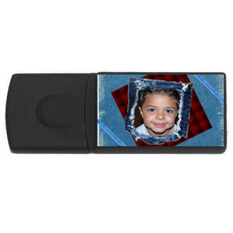 Denim Boy Usb By Danielle Christiansen   Usb Flash Drive Rectangular (2 Gb)   Gofr4qhrouue   Www Artscow Com Front