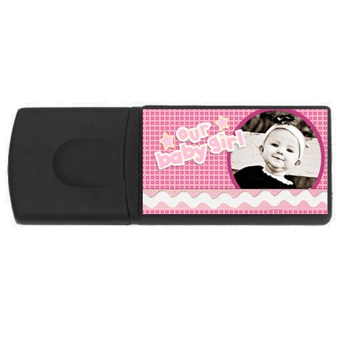 Our Baby Girl Usb By Danielle Christiansen   Usb Flash Drive Rectangular (2 Gb)   Bbrqazgs1b03   Www Artscow Com Front