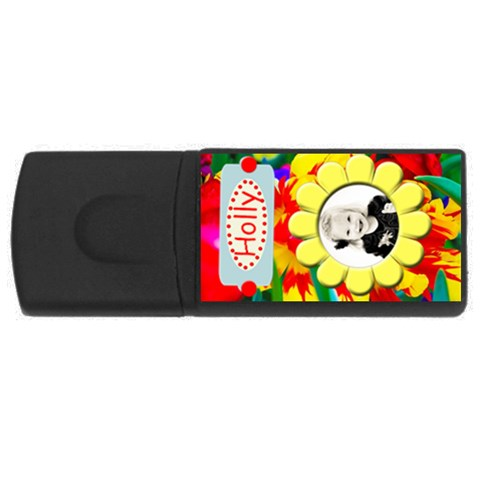 Flower Usb By Danielle Christiansen   Usb Flash Drive Rectangular (2 Gb)   T1p3ugqdlpyl   Www Artscow Com Front