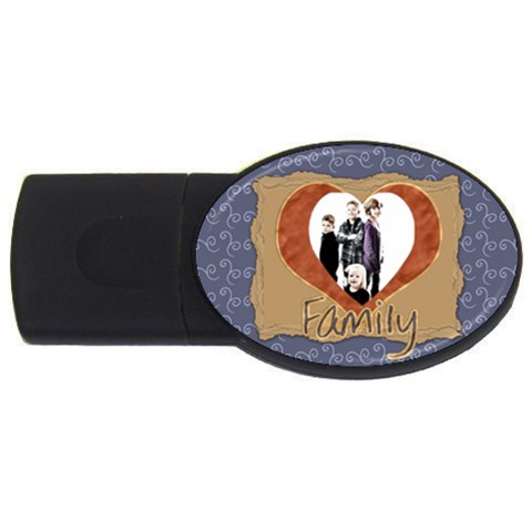 Family Usb By Danielle Christiansen   Usb Flash Drive Oval (4 Gb)   3xy0xcrgyjng   Www Artscow Com Front