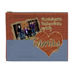 Family Xl Cosmetic Bag By Danielle Christiansen   Cosmetic Bag (xl)   V8scxjy83fia   Www Artscow Com Front