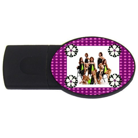 Flower Power Usb By Makayla   Usb Flash Drive Oval (4 Gb)   Le7gtnfglt2j   Www Artscow Com Front