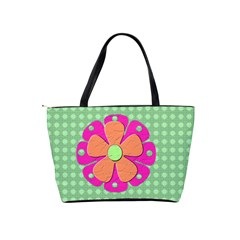 Flower Love Bag By Makayla   Classic Shoulder Handbag   Azhca8ub4c6l   Www Artscow Com Back