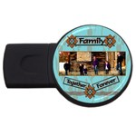 family together forever - USB Flash Drive Round (4 GB)