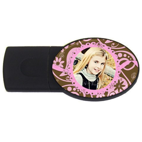 Pink Chocolate Usb By Danielle Christiansen   Usb Flash Drive Oval (4 Gb)   Aq7mia7r6trp   Www Artscow Com Front