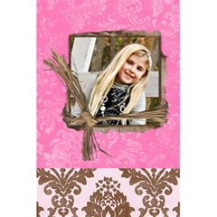 Pink Chocolate Lined Notebook By Danielle Christiansen   5 5  X 8 5  Notebook   Tjrg5canajb7   Www Artscow Com Front Cover Inside