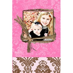 Pink Chocolate Lined Notebook By Danielle Christiansen   5 5  X 8 5  Notebook   Tjrg5canajb7   Www Artscow Com Back Cover Inside