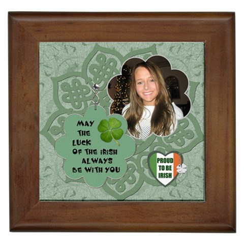 Luck Of The Irish Framed Tile By Lil    Framed Tile   Nqc0fhuhubxf   Www Artscow Com Front