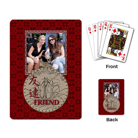 My Frirend Playing Cards By Lil    Playing Cards Single Design   Mdigtep612bm   Www Artscow Com Back