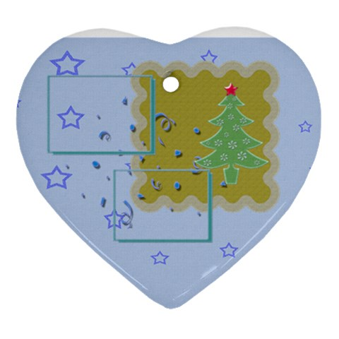 Christmas Tree   Heart Ornament By Daniela   Ornament (heart)   P49spqth1uny   Www Artscow Com Front